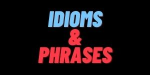 Daily use idioms and phrases with hindi meaning