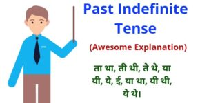 past indefinite tense in hindi