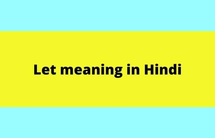 let meaning in Hindi